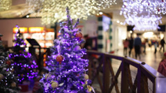 Christmas shopping - stock footage