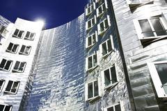 Germany, North Rhine-Westphalia, Dusseldorf, Gehry Buildings at Medienhafen - stock photo
