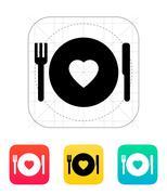 Romantic dinner icon. Stock Illustration