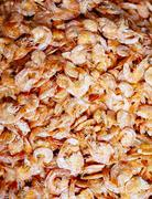 Thailand, Ratchaburi, Damnoen Saduak Floating Market, dried shrimps Stock Photos