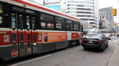 Streetcar At Toronto Eatons Centre Stock Footage