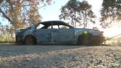 Burnt Car DNxHD Low 01 Stock Footage