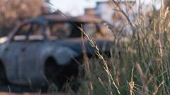Burnt Car DNxHD Mid 02 - stock footage