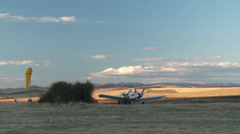 Glider Tug ReFuel01 DNxHD Stock Footage