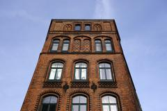 Germany, Lower Saxony, Hannover-List, brick house Stock Photos