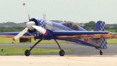 Yak and Pitts Aerobatic Airplanes Taxi In Stock Footage
