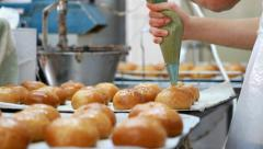 Fill donuts Stock Footage