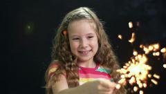 Festive Girl Stock Footage
