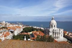 Portugal, Lisbon, Alfama, view over the city - stock photo