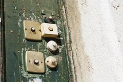 Stock Photo of Portugal, Lisbon, Alfama, old door bells