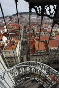 Portugal, Lisboa, Baixa, view over the city Stock Photos