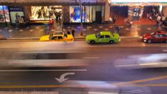 Night traffic on Hollywood Boulevard in Los Angeles, California. Timelapse. Stock Footage