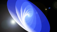 Stock Video Footage of Spiral. Blue and white outlined ellipse. Media background. Loop able File.