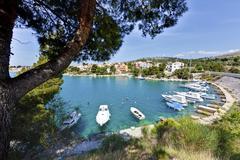 Stock Photo of Croatia, Dalmatia, Zaboric, Boats in fishing harbour