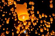 Stock Photo of thai flying sky lantern