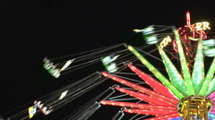 Funfair thrill-ride Stock Footage