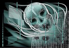 Stock Illustration of frightening technology