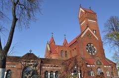 Minsk Red Church - stock photo
