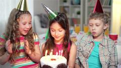 Birthday Girl Stock Footage