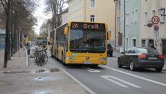 Regensburg Buses Stock Footage
