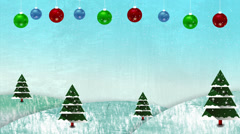Christmas Snowing Hills Loop Stock Footage