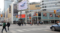 Younge And Dundas Street Stock Footage