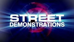 News street demonstrations 1 Stock Footage