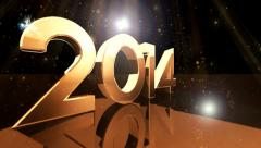 Happy New Year  type animation 7 Stock Footage