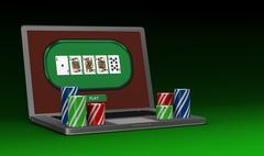 Stock Illustration of gambling on line