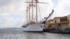 Chilean navy training ship esmeralda 2 Stock Footage