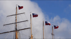 Chilean training ship esmeralda 1 Stock Footage
