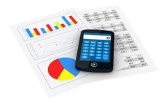 financial analysis - stock illustration