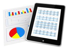 Modern financial analysis Stock Illustration