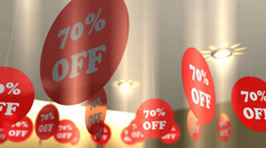 Shop store sale discount banners. Stock Footage