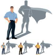 Man Superhero Concept - stock illustration