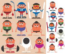 Sports 2 Stock Illustration