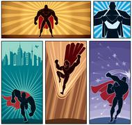 Superhero Banners 2 Stock Illustration
