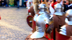 Roman army 18 (crowd scene) Stock Footage