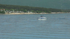 Boats in harbour of Krk, Croatia Stock Footage