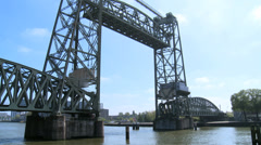 De Hef - Koningshavenbrug - movable bridge - Rotterdam Stock Footage
