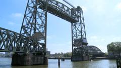 Stock Video Footage of De Hef - Koningshavenbrug - movable bridge - Rotterdam