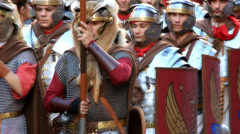 MARCHING SOLDIERS - Roman army 19 Stock Footage