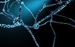 nerve cells and neuronal network - stock illustration