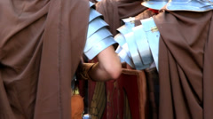 Roman army 20 (marching) Stock Footage