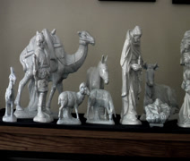 Ceramic natvity scene Stock Footage
