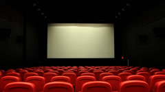 Cinema empty Center WS h264 Stock Footage