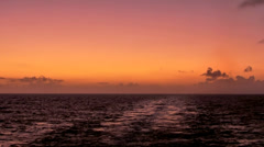 KeyWest 133HD, beautiful colored Sky a few Moments after Sunset at open Ocean Stock Footage