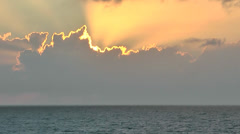 KeyWest 129HD, Sunset at open Ocean behind a fantastic Formation of Clouds Stock Footage