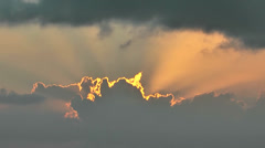 KeyWest 130HD, Close Up of illuminated Clouds during Sunset Stock Footage