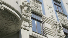 Art deco archtecture in Riga, Latvia 2 Stock Footage
